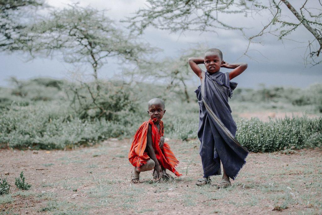Niños Masai - Africaatumedida