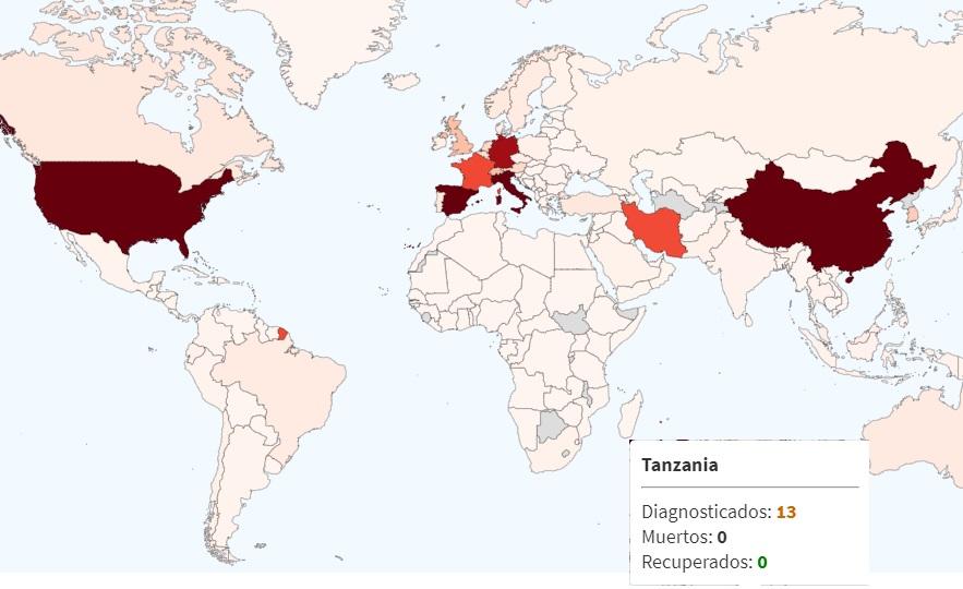 ACTUALIDAD CASOS COVID-19 AFRICA. CORONAVIRUS TANZANIA  PRIMER PACIENTE RECUPERADO.CANCELACIONES VUELOS AFRICA