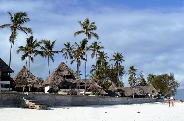 Hotel en playa de Zanzibar