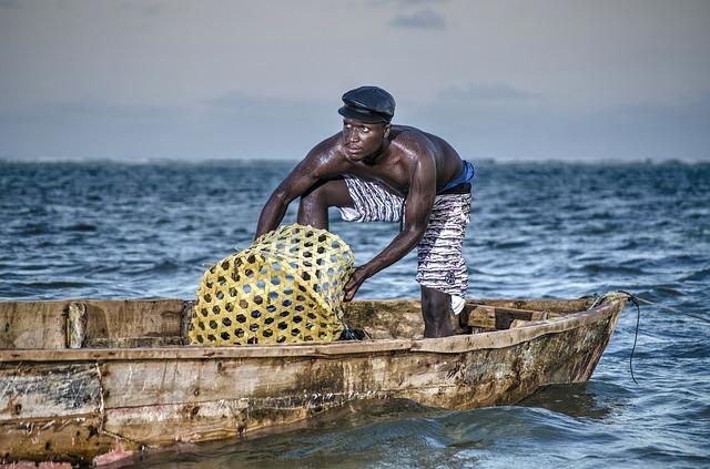 pescador en Kenia
